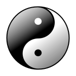 Yin and yang symbol.
