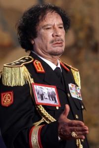 Muammar Gaddafi Meets With PM Berlusconi & Italian President