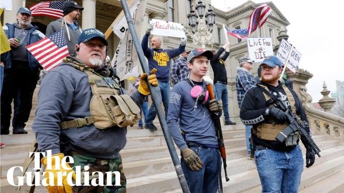 Michigan gun protestors